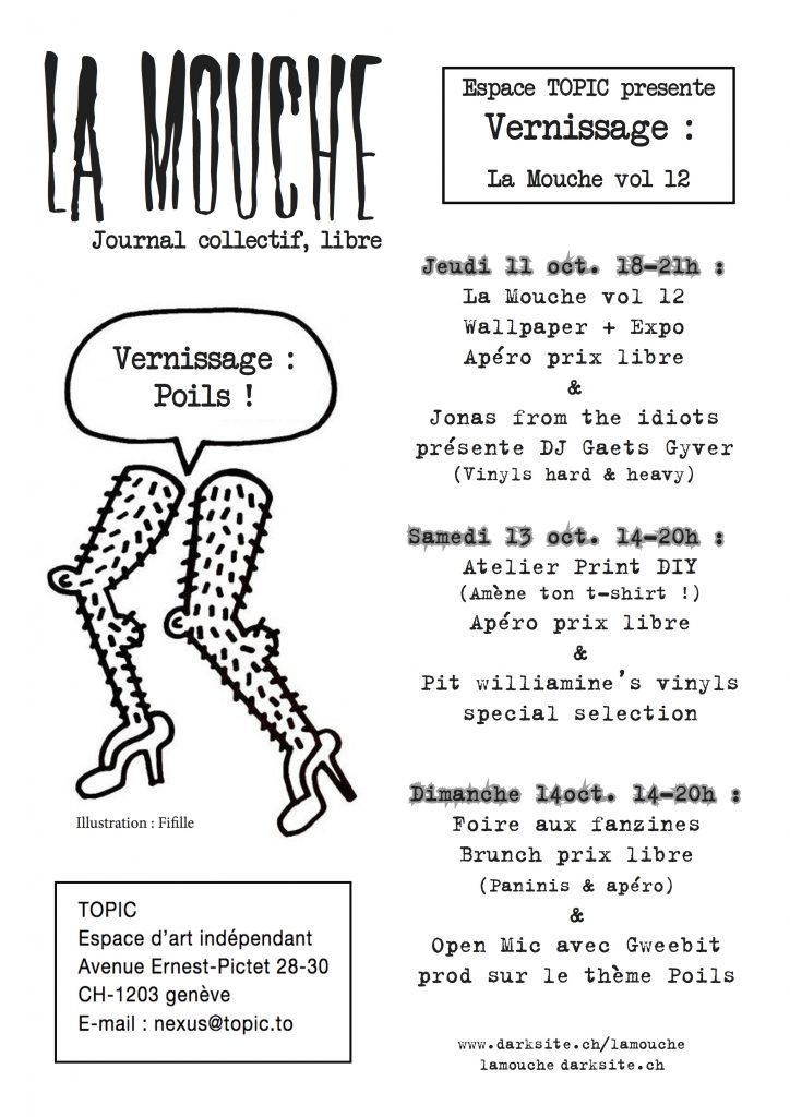 Affiche La Mouche vernissage vol.12
